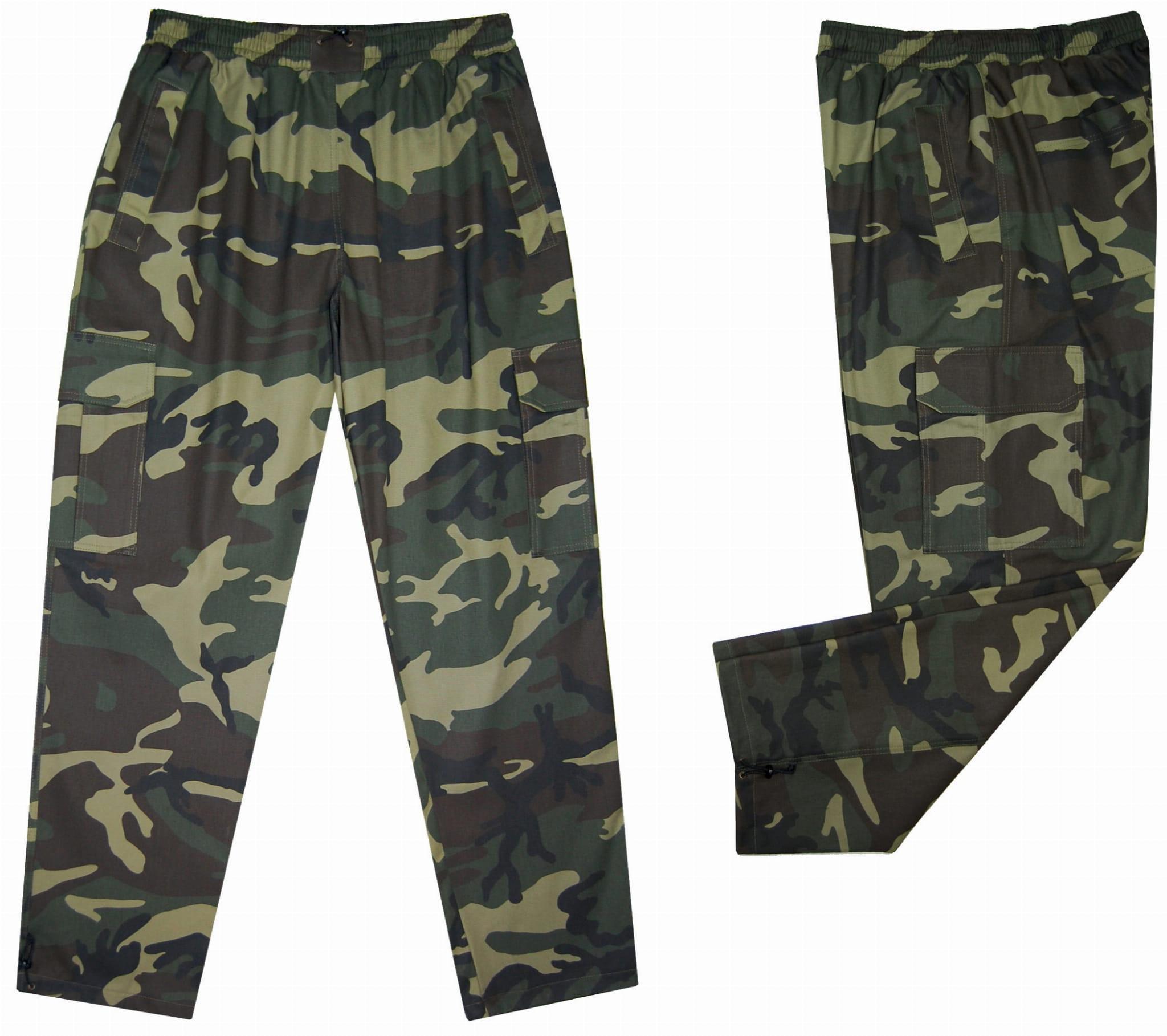 spodnie bojówki moro 4XL